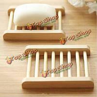 Трапецоид натуральный бамбук деревянная коробка мыла экологичный держатель мыла