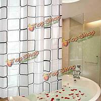 Толще квадратная душевая занавеска ванной комнаты водонепроницаемый ткань занавеса ванны