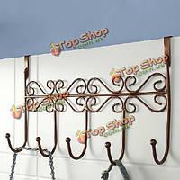 Евро-стиль искусства утюга задней двери крючок вешалки с 5 крюка 3 цвета, фото 1