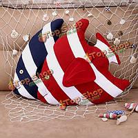 43x40см 3D рыбы полоса бросить подушку морских диван офис подушки включают подушки интерьер