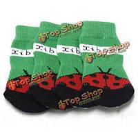 Coccinella на шаблон Pet носки собака нескользящая рождественские носки, фото 1