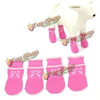Нескользящая пузыря ПЭТ прекрасные носки погладить розовый с бантом выкройка носков, фото 1