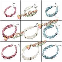 Модный питомец 3 ряда жемчуг ювелирные изделия ожерелье воротник, фото 1