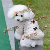 Британский стиль кнопка звукового сигнала собаки любимчика хлопок-ватник