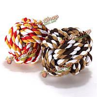 Кота собаки любимчика хлопок плетеный жевать веревочки любимчика зубы чистые здоровые играют в мяч