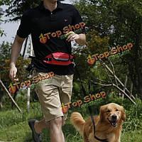 4 цвета громкой связи для выгула собак поясной ремень регулируется поводок троса мешок