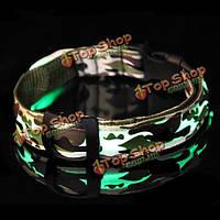 Регулируемая камуфляж ПЭТ LED нейлон ночь безопасности воротник, фото 1