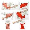 Модно животное ткани принцессы прекрасные бант украшения юбки