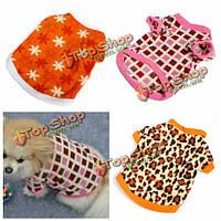Мягкая флисовая рубашка толстовка леопард звезда квадрата любимчика одежды собаки, фото 1