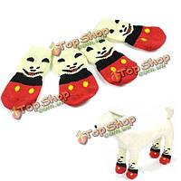 Панда выкройка собаки любимчика мягкий хлопок анти -- выскальзования переплетения вязать теплые носки, фото 1