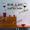 Поделки вина немного съемный стикер стены декор комнаты кухня