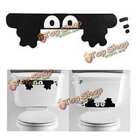 Милый мультфильм подглядывание эльф стены автомобиля ванная комната туалет дома стикера этикеты