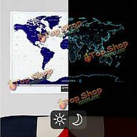 Командировочной жизни Звездная ночь карта мира выпуск скрэтч-карта мира, фото 1