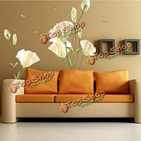 Цветок стены стикеры съемный телевизор фоне наклейки, фото 1