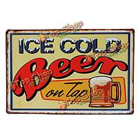 Холодное пиво подписать декор стен металлическими бляшками винтажная декоративная роспись