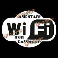 Беспроводной доступ персонала для пароля наклейки знаки витрине паб кафе, фото 1