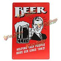 Пиво жестяная вывеска ретро старинные металлические бляшки бар паб настенный декор живопись