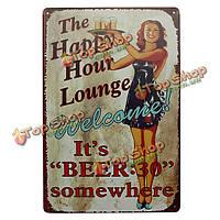 Гостиная пива жестяная вывеска старинные металлические бляшки паб бар дома стены декор, фото 1