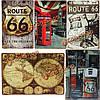 Жестяная вывеска старинные металлические бляшки домашний бар кафе паб гараж декор стен