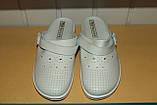 Медична взуття шльопанці 36-40 р Молдова білі., фото 3