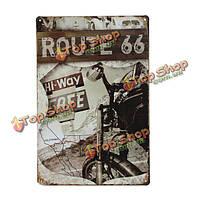 Маршрут 66 знак олова ретро старинные металлические бляшки бар паб декор стен, фото 1