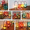 Прозрачное стекло висит держатель бутылки свеча ваза канделябры подарок декора романтический домашний свадьбы