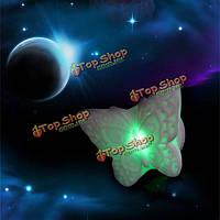 Творческие цвета изменяя LED мигающий бабочки свет ночи декоративные огни декора дома подарок, фото 1