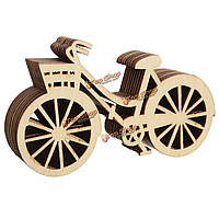 10шт деревянный велосипед DIY записках орнамент резки дерева дома стол декор мебель, фото 1