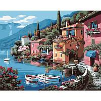Lakeside номера комплект для поделок картины маслом картины бескаркасных вилла холст домашнего декора стены 40x50см, фото 1