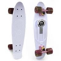 Пенни Борд Fish «Белый» 22″ / пенниборд скейт (penny board), скейтборд