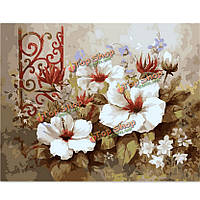 Поделки номера живописи комплект масляной живописи бескаркасных картины цифровой цветок лилии рисунок декора стен подарок 40x50cm