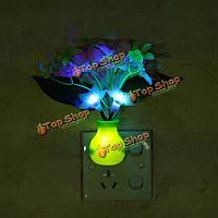 Фиолетовый LED затемнение ночь свет 7 цветов изменяя искусственный цветок управление светом стены дома декор