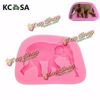 KCASA™ 3D форма слон силиконовые Cake помадка формы мыла прессформы, фото 1