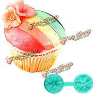 Силикон двойной сторона печать цветок торт плесень сахар торт украшения плесень, фото 1