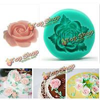 Красивая силикона цветок помады плесень плесень 3d формы торт торт украшения, фото 1