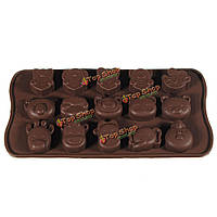 Силиконовые мультфильм кубик льда шоколадные конфеты прессформы создателя пан