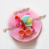 Кремния багги младенца прессформа торта прессформы инструменты для декорирования