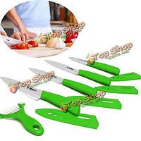 5шт циркон набор керамический нож кухонный нож фрукты Овощечистка крышка кухни antiskip нож