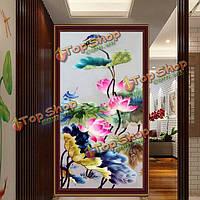 57x32см 5D поделок картины лотоса цветок вышивка крестом ремесло крест шить домашний декор
