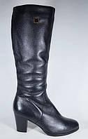 Кожаные сапоги зимние TANSSICO на каблуке