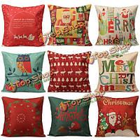 Рождественские письма чехол для подушки квадрата наволочки Санта Клауса домашняя офисная обстановка дивана
