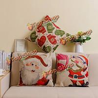 Рождественский ряд напечатал хлопковый офисный чехол для подушки дивана полотна квадрата случая декоративной подушки