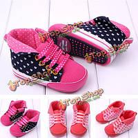Ребенок малыш повязку любовь Prewalker резиновая подошва обуви кроватки