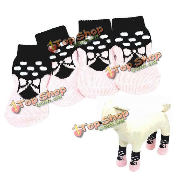 Собака симпатичная розовая бабочка шаблон резиновой прокладки хлопковые носки - ➊TopShop ➠ Товары из Китая с бесплатной доставкой в Украину! в Киеве
