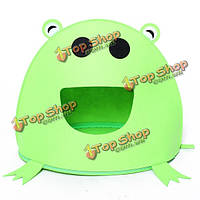 Зеленая лягушка типа любимчика кота собаки питомника нетканые палатка дом