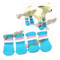 Домашнее животное носков собаки кошки rickrack яркие хлопчатобумажные носки антипромаха образца полосы
