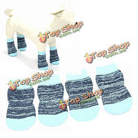 Носки собаки домашней кошки синий цветной хлопковый антипромах вязания воздухопроницаемый любимый носок