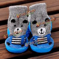 Обувь носков собаки кошки антиподсовывает водонепроницаемому основанию внутреннюю любимую обувь обуви носков