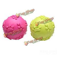 Молярные зубы резиновый след мяч игрушка для домашних животных собаки кошки