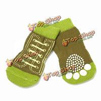 Зеленые формы ботинок дышащий хлопок нескользящие носок любимчика